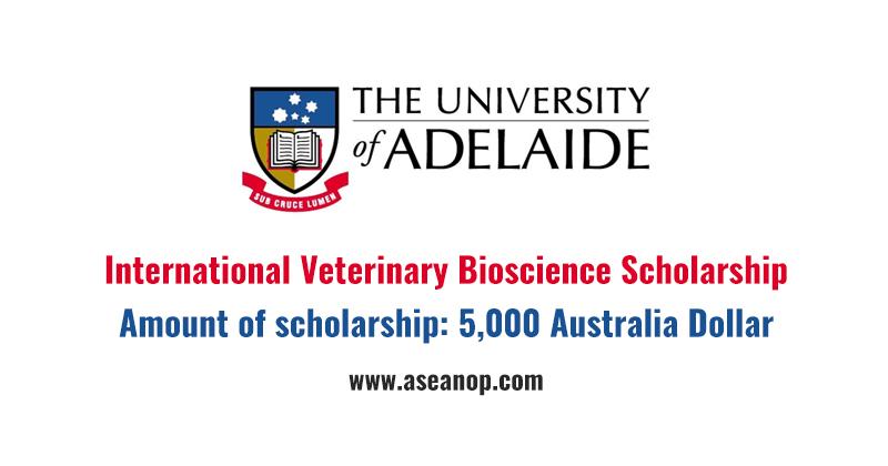 university of adelaide bachelor of veterinary bioscience course handbook
