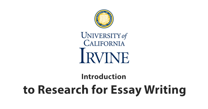 online course on introduction to research for essay writing writing