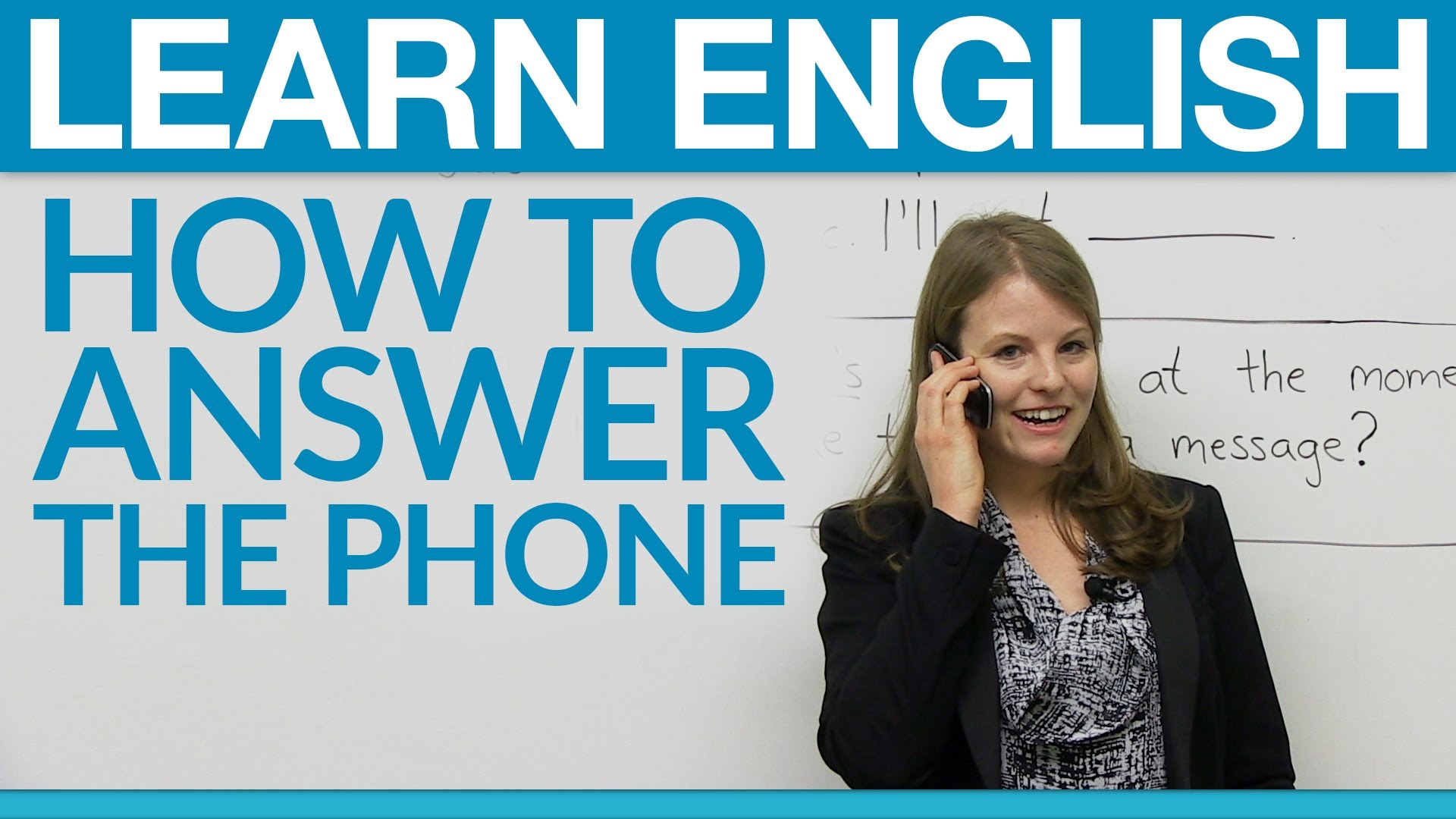 Learning English - How to answer the phone professionally