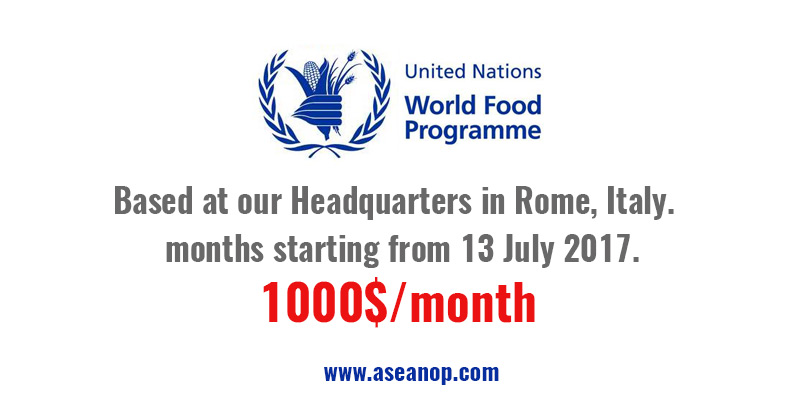 Paid Internship With The World Food Programme Asean Scholarships