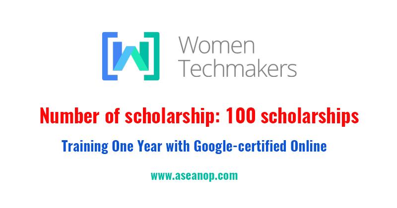 Women Techmakers One Year Scholarship Training Google Certified