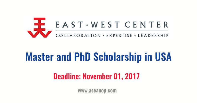 East-West Center Graduate Degree Fellowship, Hawaii