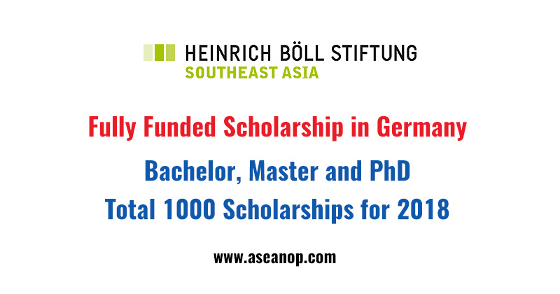 The Heinrich Böll Foundation 1000 Scholarships for Bachelor