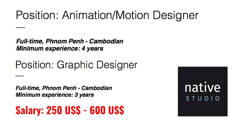 Graphic Designer And Motion With Native Studio Cambodia