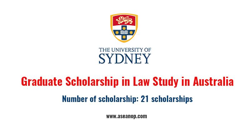 Sydney Law School Graduate Scholarship ( 21 scholarships