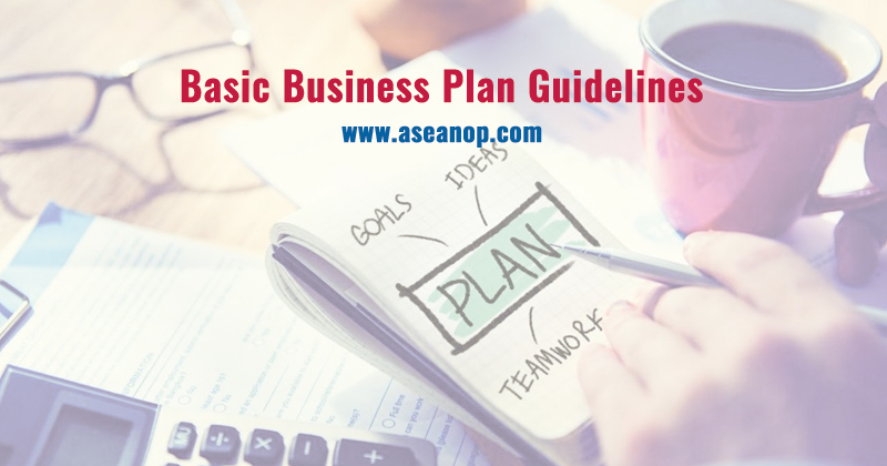 basic business plan guidelines asean scholarships opportunities