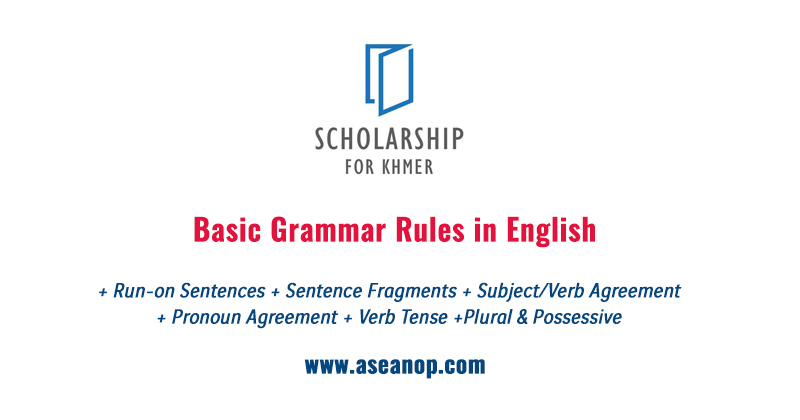 Basic Grammar Rules Asean Scholarships Opportunities
