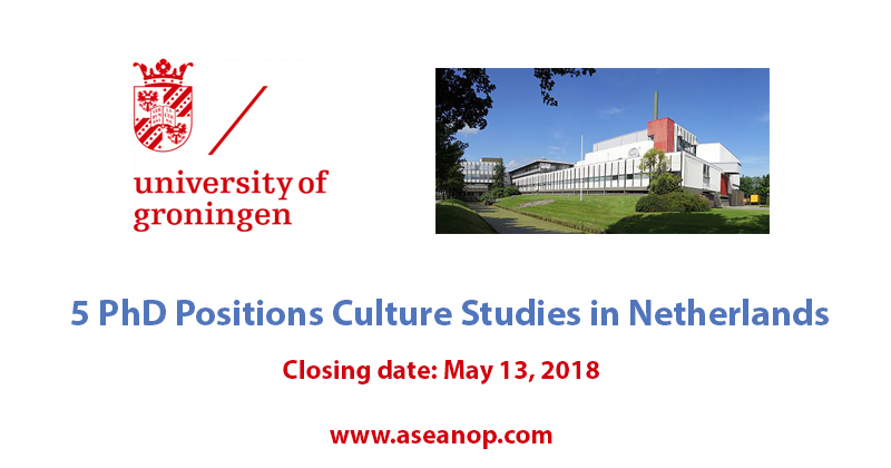 5 PhD positions Culture Studies at Groningen Research Institute for