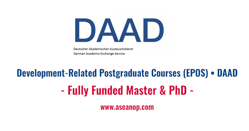 Development related postgraduate courses epos fully funded this is a scholarship funded by the daad provided a number of scholarship to graduate students coming from development and newly industrialised countries spiritdancerdesigns Images