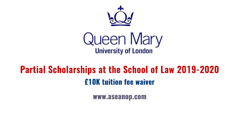 Partial Scholarships at the School of Law 2019-2020 - ASEAN