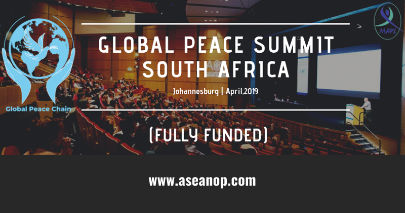 Fully Funded] GLOBAL PEACE SUMMIT in Johannesburg, South