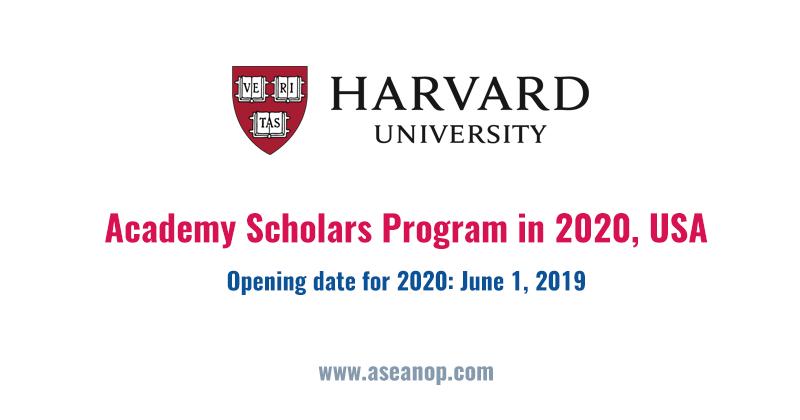 Harvard University: Academy Scholars Program - ASEAN
