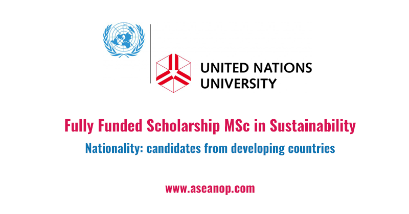 Fully Funded Scholarship MSc in Sustainability at United