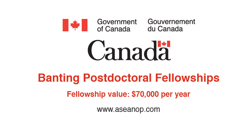 Banting Postdoctoral Fellowships in Canada - ASEAN