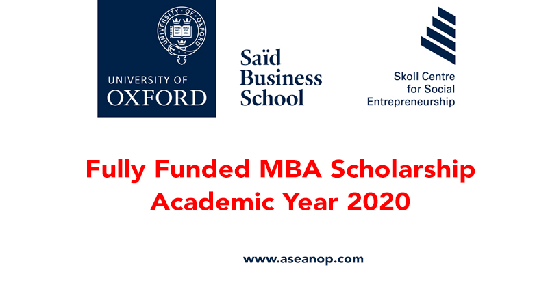 Fully Funded MBA Scholarship at Oxford University, 2020 - ASEAN