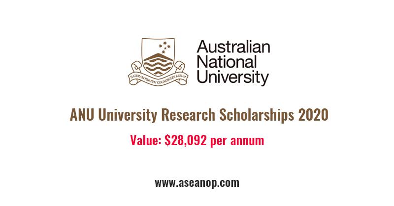 Australian National University Research Scholarships 2020