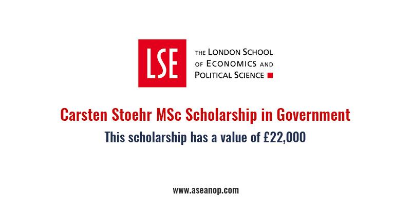 Carsten Stoehr MSc Scholarship in Government