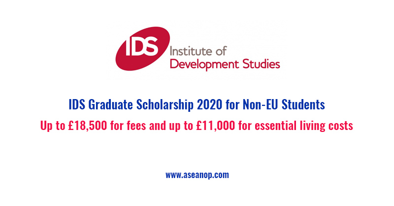 IDS Graduate Scholarship 2020 for Non-EU Students