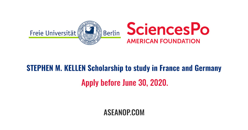 STEPHEN M. KELLEN Scholarship to study in France and Germany