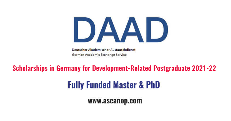 Development Related Postgraduate Courses at DAAD 2021/2022 (Fully Funded)