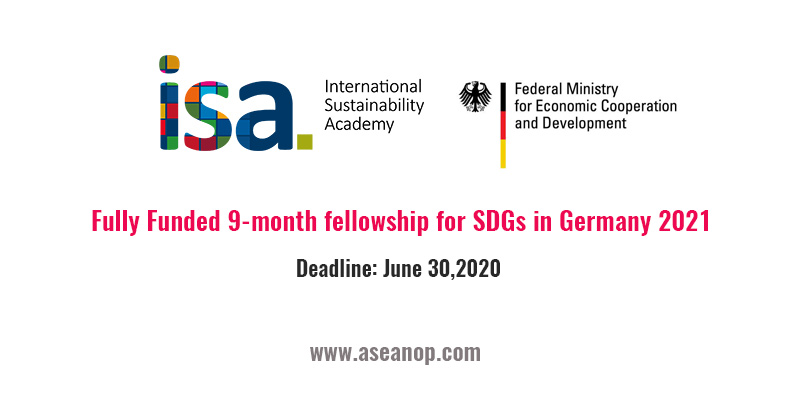 Fully Funded 9-month fellowship for SDGs in Germany 2021