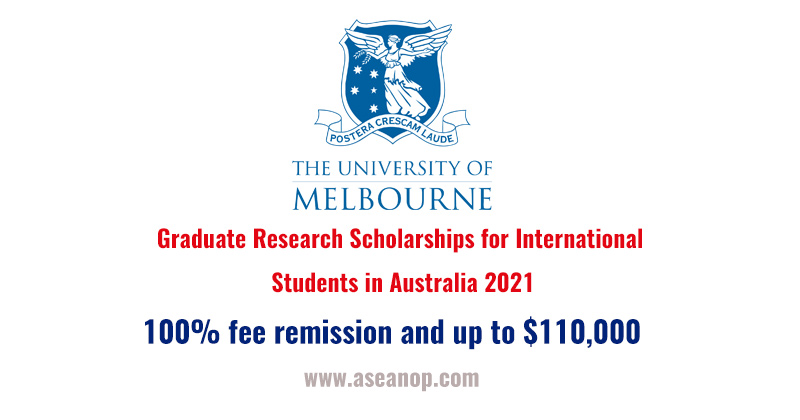 Graduate Research Scholarships for International Students ...