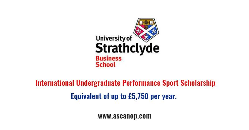 Strathclyde Business School International Undergraduate Performance Sport Scholarship