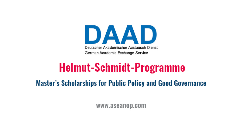 DAADHelmut-Schmidt-Programme (Masters Scholarship for Public Policy and Good Governance) Call for applications 2021