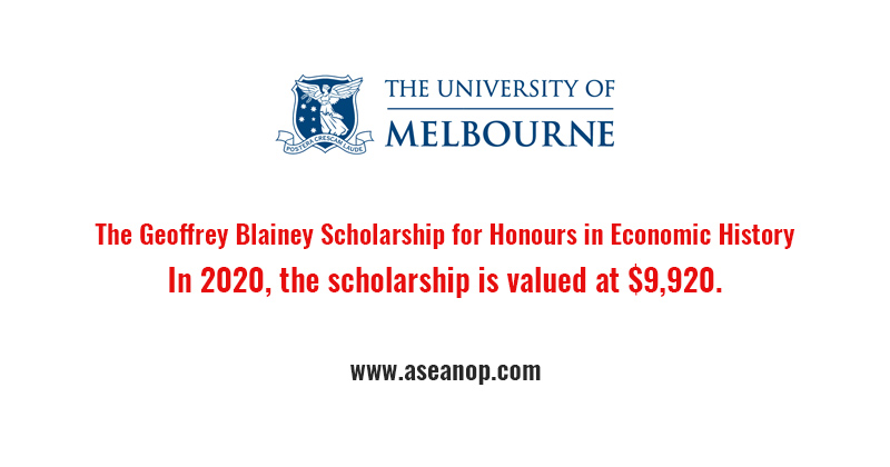 The Geoffrey Blainey Scholarship for Honours in Economic History
