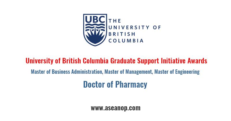University of British Columbia Graduate Support Initiative Awards