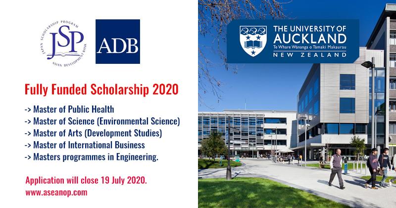 Asian Development Bank-Japan program for International Students, 2021