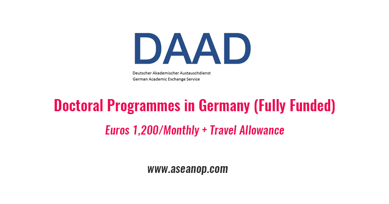 DAAD Research Grants – Doctoral Programmes in Germany (Fully Funded)