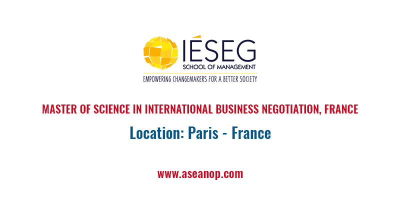 MASTER OF SCIENCE IN INTERNATIONAL BUSINESS NEGOTIATION