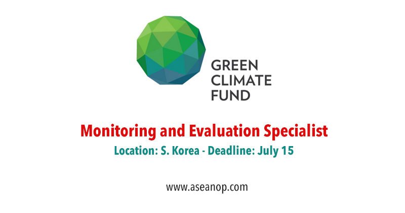 Monitoring and Evaluation Specialist with Green Climate Fund, Korea