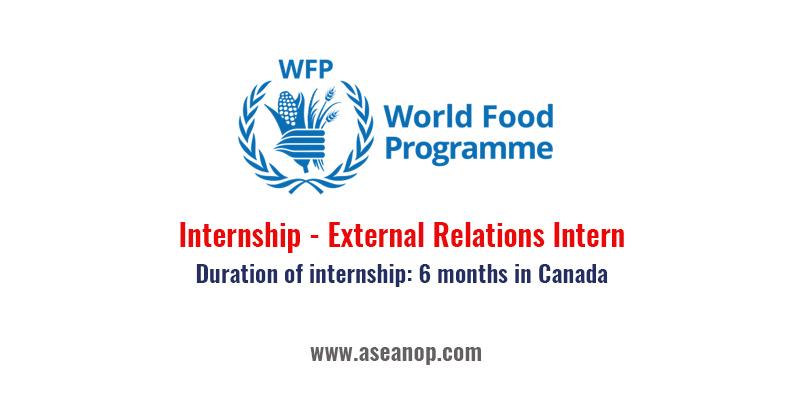 World Food Programme Internship External Relations Intern Asean Scholarships
