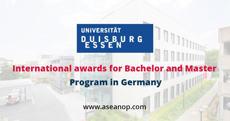 International awards for Bachelor and Master Program in Germany