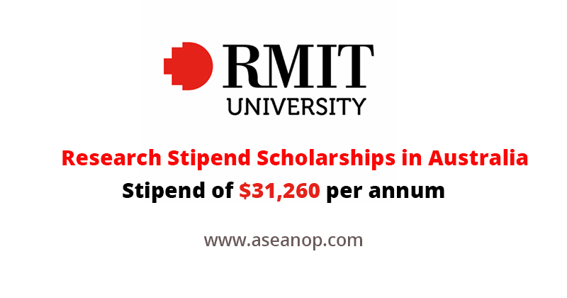 Research Stipend Scholarships at RMIT University, Australia