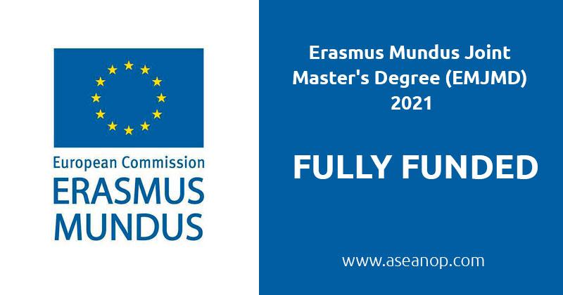 Erasmus Scholarship for Erasmus Mundus Joint Master's Degree (EMJMD) 2021