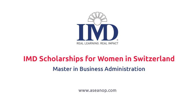 IMD Scholarships for Women in Switzerland (MBA)