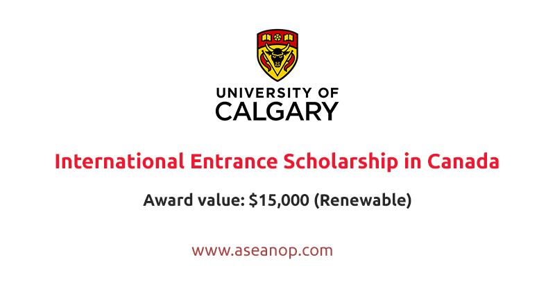 University of Calgary International Entrance Scholarship in Canada