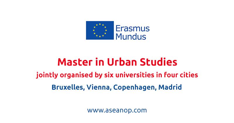 4CITIES+ Erasmus Mundus Joint Master Degree in Urban Studies