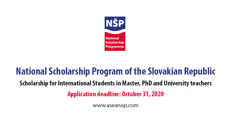 National Scholarship program of the Slovakian Republic