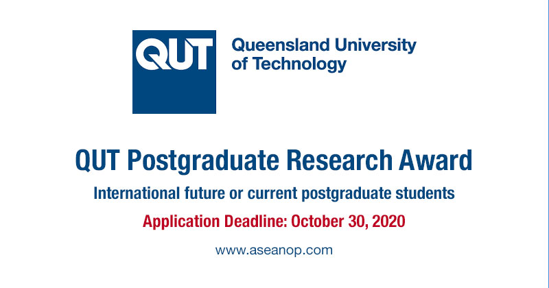 QUT Postgraduate Research Award for International Students