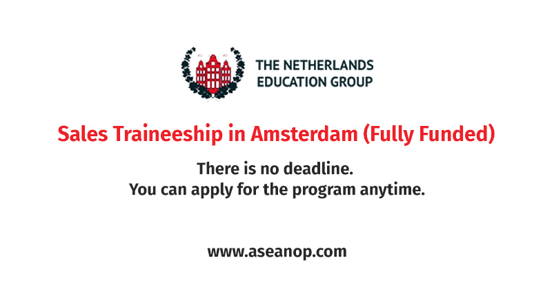 Sales Traineeship in Amsterdam (Fully Funded)