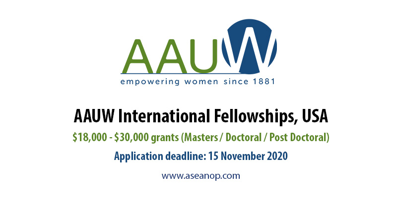 AAUW international fellowships, USA