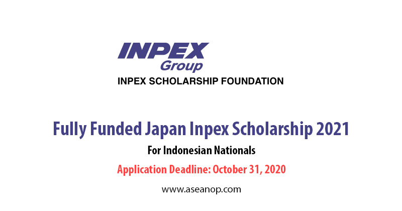 INPEX Japan Scholarship for Indonesian 2021