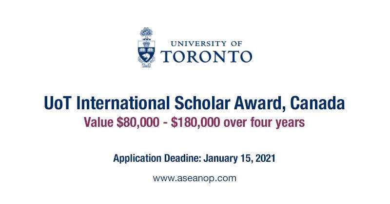 University of Toronto International Scholar Award 2021 ...