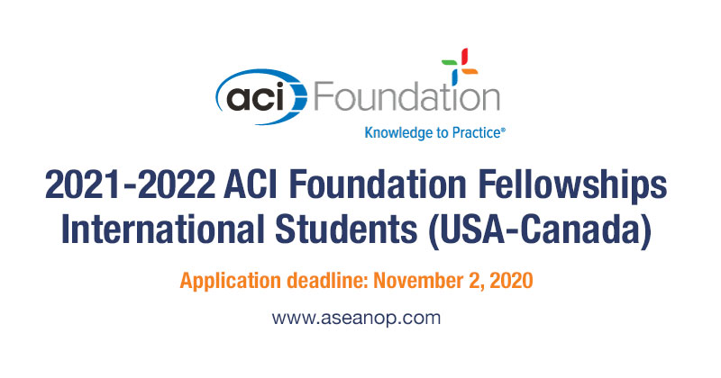 2021-2022 ACI Foundation Fellowships for International ...
