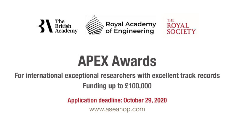APEX award, The royal society