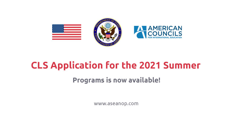 The CLS Application for the 2021 Summer Programs is now available!